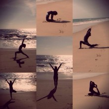 yoga, beach, algarve, life is better at the beach, yogareisen, yogainspiration, asanas, warrior, life