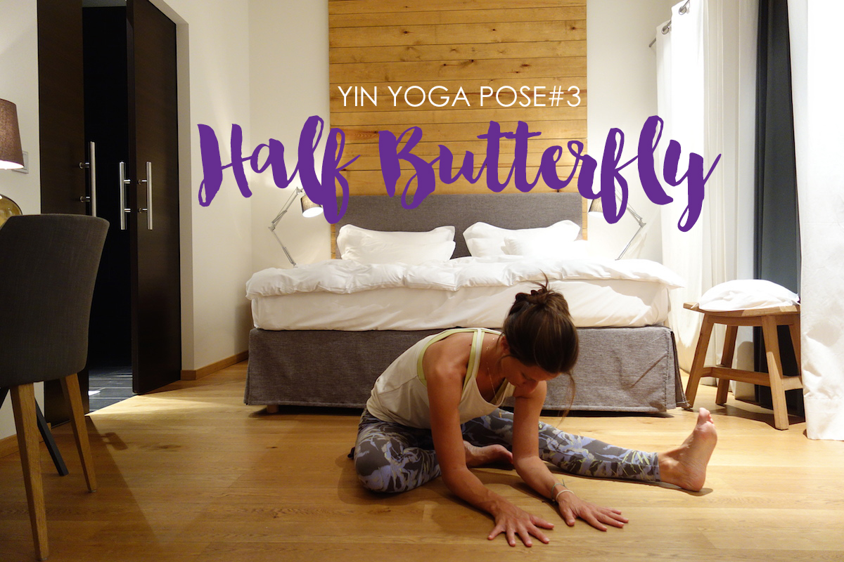 Half Butterfly Yogapose Jeanette Hotelyoga